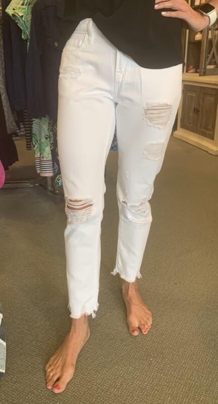 Hidden  Bailey White Distressed Jean