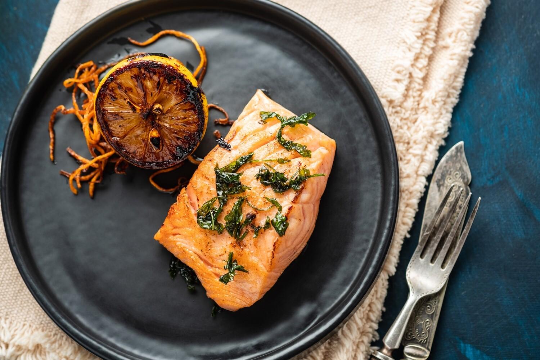 Dos de saumon confit