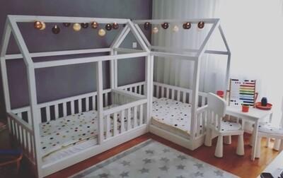 Wooden Montessori Basic L Shape Bed Frame