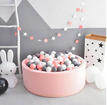 Custom Made Round Foam Ball Pit- Pink