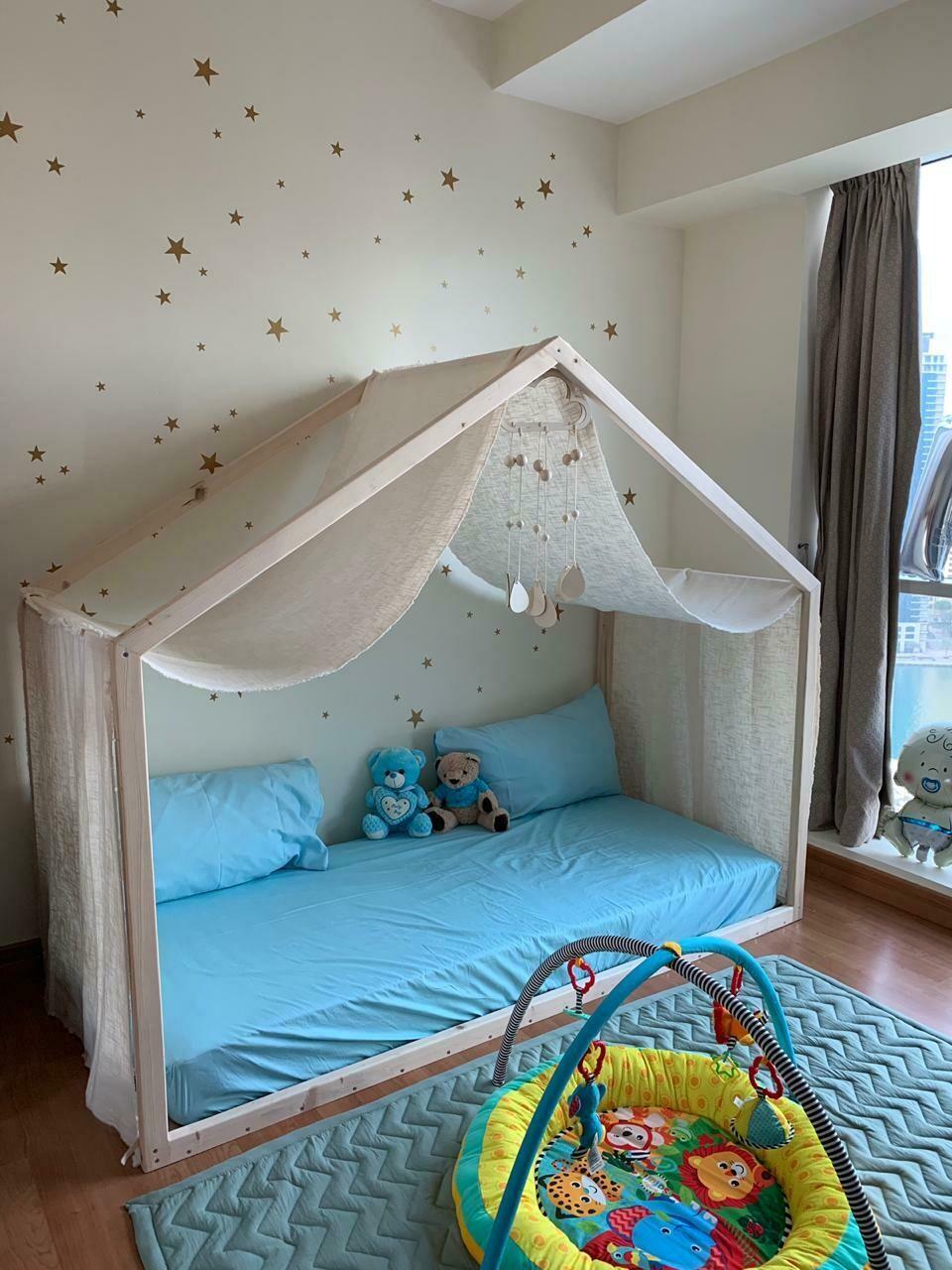 Wooden Montessori Basic Side House Bed Frame
