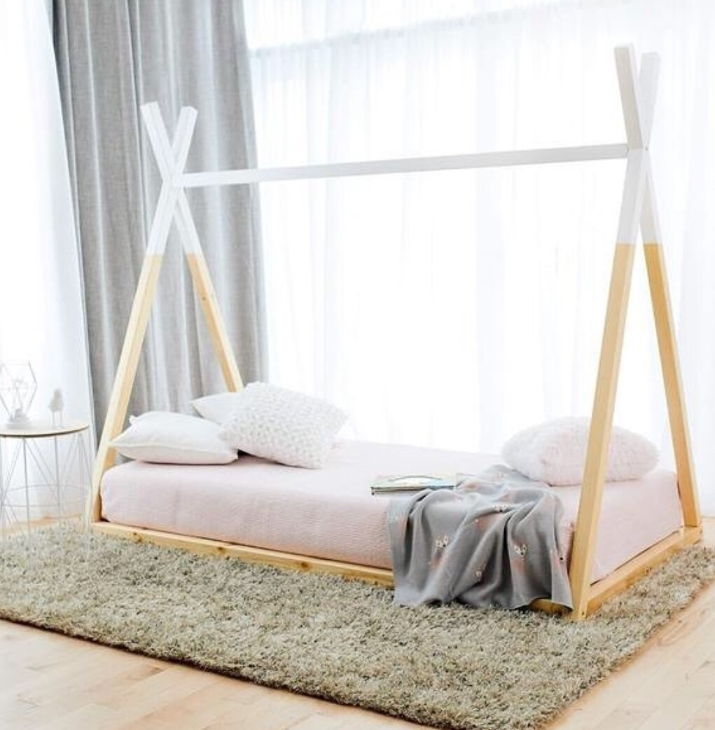 Wooden Montessori TeePee Basic Bed Frame