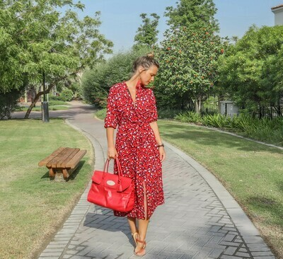 The Sally Dress: Red Leopard Print