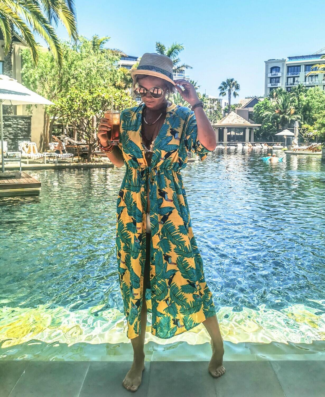 The Sally Dress: Yellow & Green Tropical Print