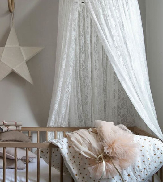 Stunning Boho White Lace Hanging Canopy / Play tent