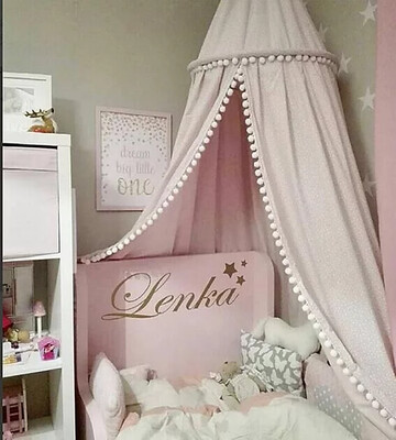 Beautiful Unique Pom Pom  Canopy - Pink