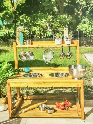 The Townhouse: Double Bowl Sink Outdoor Mud Kitchen