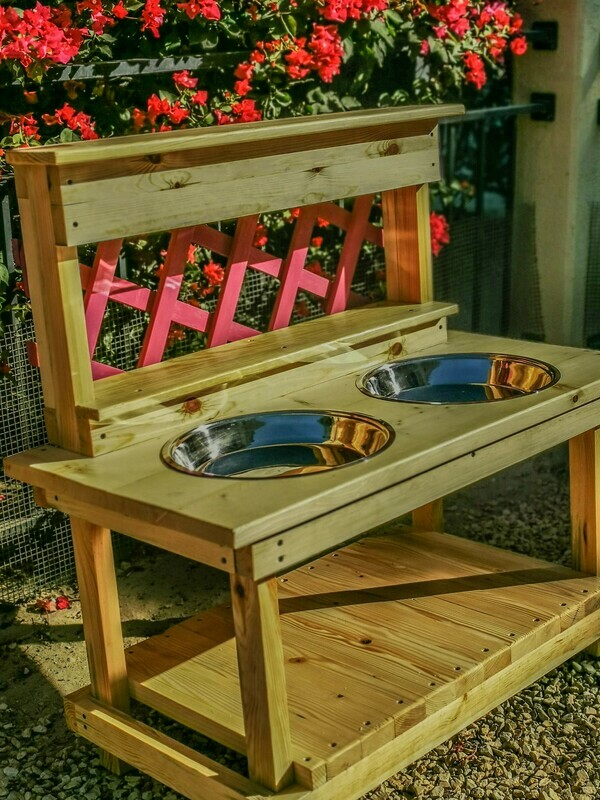 The Kenza: Basin Outdoor Wooden Mud Kitchen with Trellis