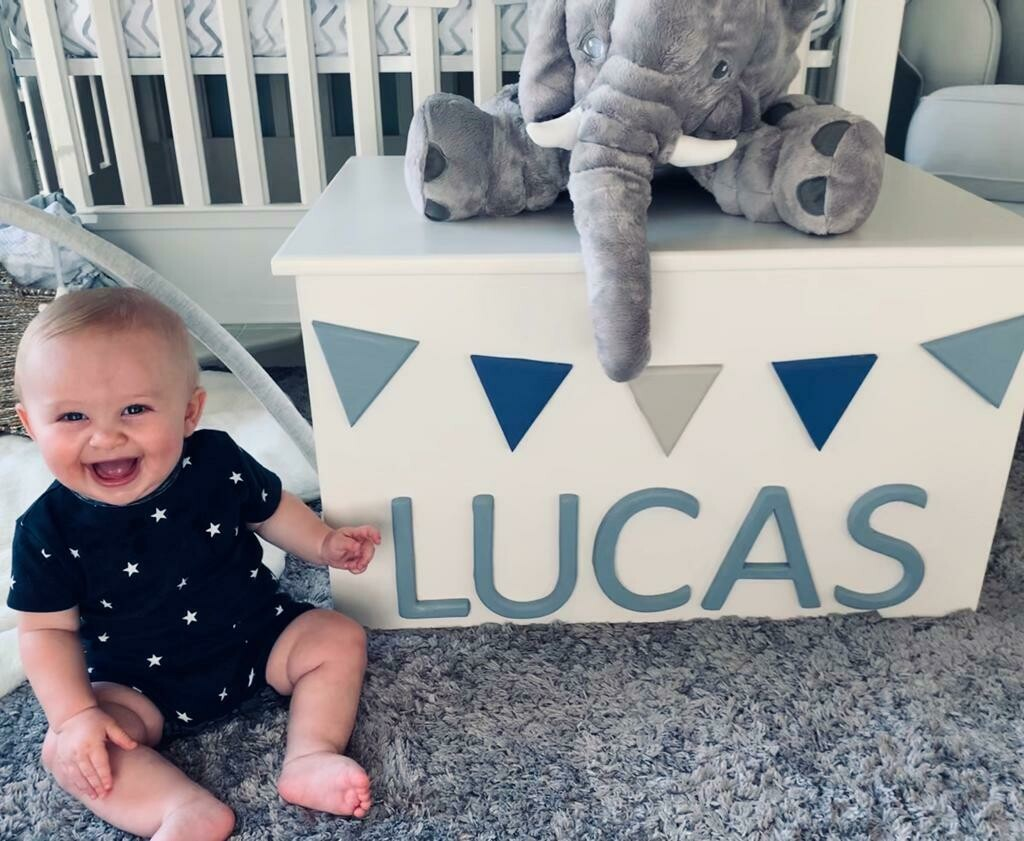 The Lucas: Personalized Wooden Toy Box - Personalized
