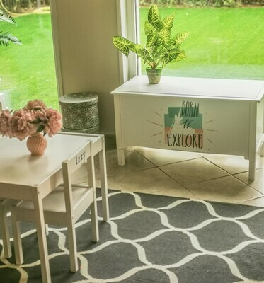The Home: Wooden Large Toy Box
