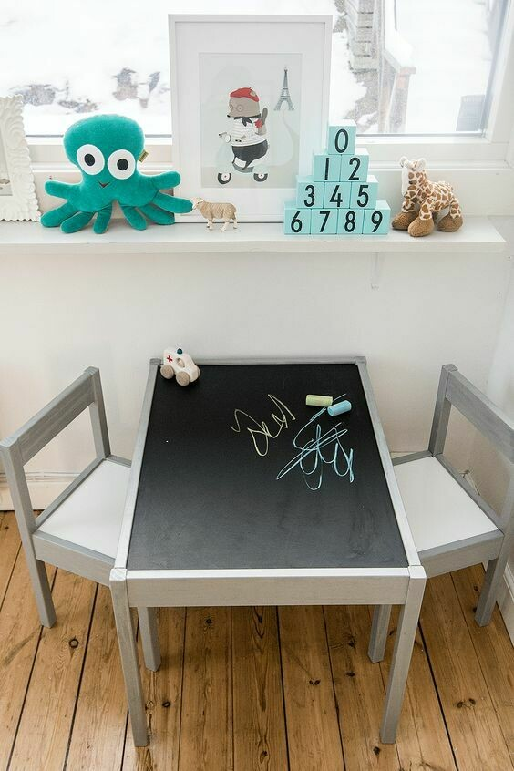 Chalk Table & Two Chairs Set