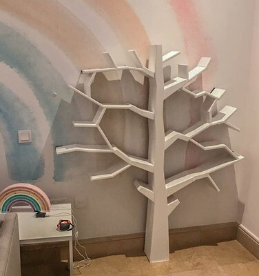 Wooden Tree Book Display/Shelf