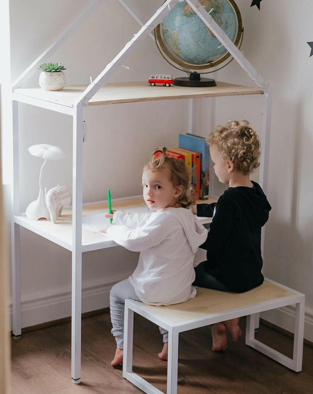 Wooden Double House Desk