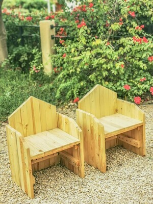 Outdoor Wooden Classic Thrones - Set of two