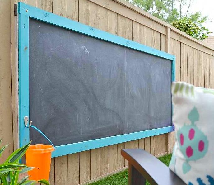 Outdoor Wooden ChalkBoard