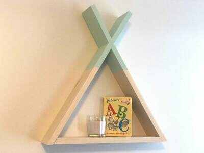 Wooden  Tipi Shelf - Nursery Decor