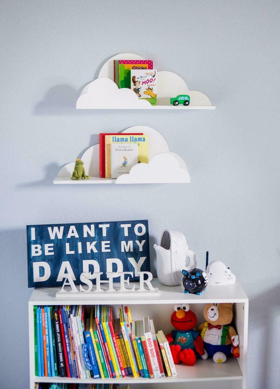 Wooden Classic Cloud Shelf