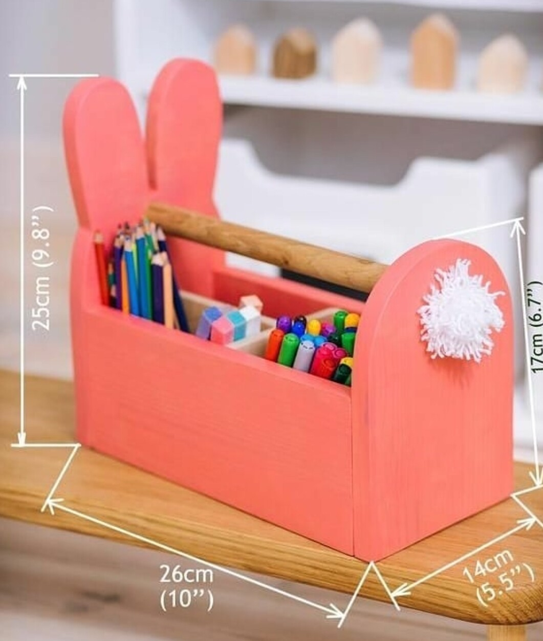 Bunny Rabbit Pencil Holder and Storage