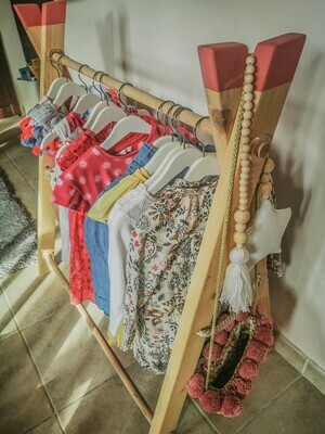 Clothes Wooden Clothes & Dressing up Rail