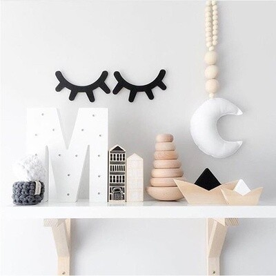 Wall Decor 3D Eyelash Stickers - Set of 2