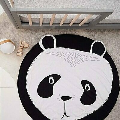 Round Play Mat for Baby Gym and Room Decor - Panda