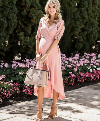The Ines: Wrap Mid Length Dress