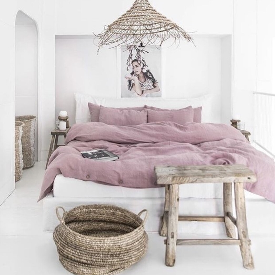 Wooden Bed Frame with Headboard and Sunken Frame - White