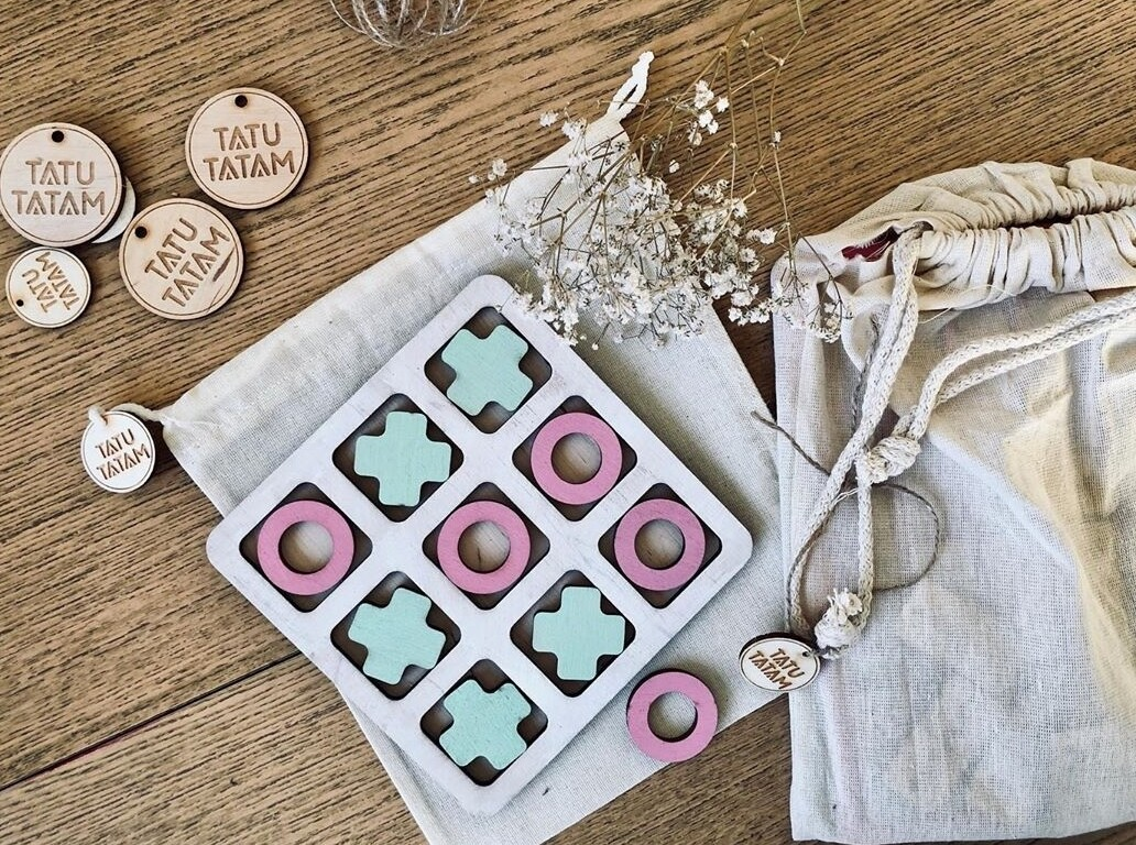 Hand Crafted Naughts & Crosses Board Game