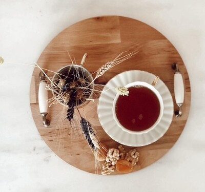 Beautiful Wooden Round Tray