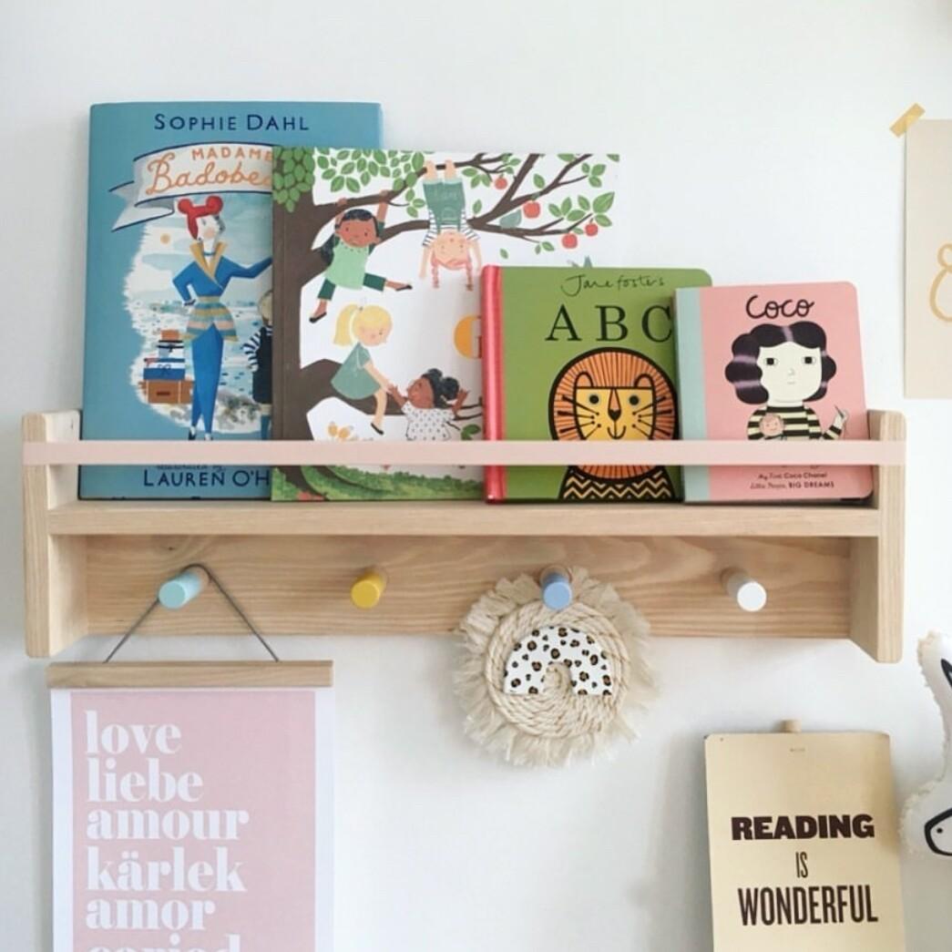 Peg Rail with Shelf and Frame