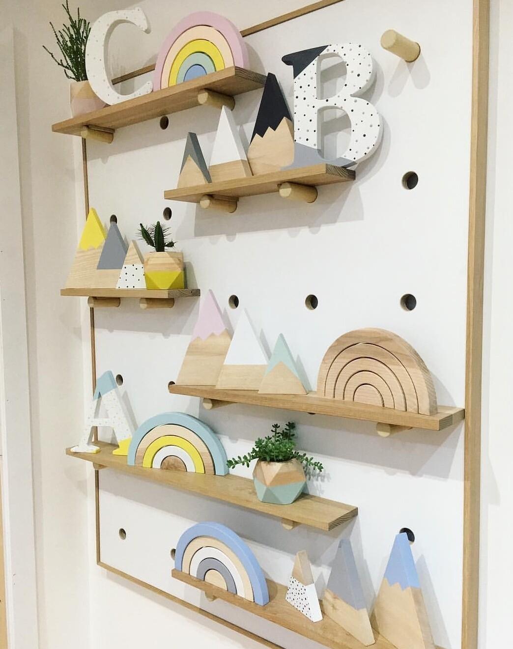 Peg Shelf - Nursery Wall Decor