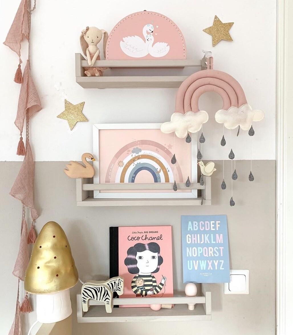 Thin Wall Book Shelf with Side Bar