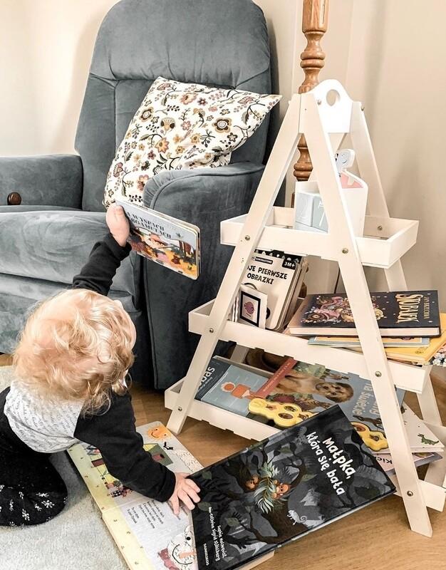 Montessori Triangle Shelf & Storage Unit