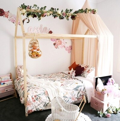 Wooden Montessori Basic House Bed Frame