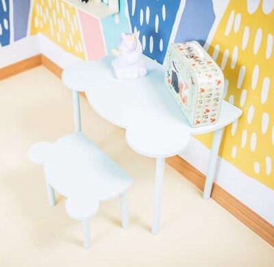 Wooden Teddy Table and Chair - Single Set