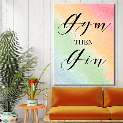 """""""Gin then Gym"""" Quote Print and Frame"""