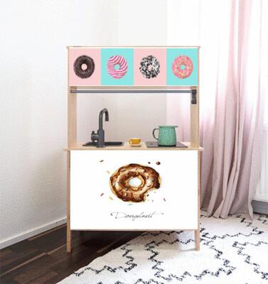 Duktig Kitchen: Decals for Reverse - Donut Shop/Cafe