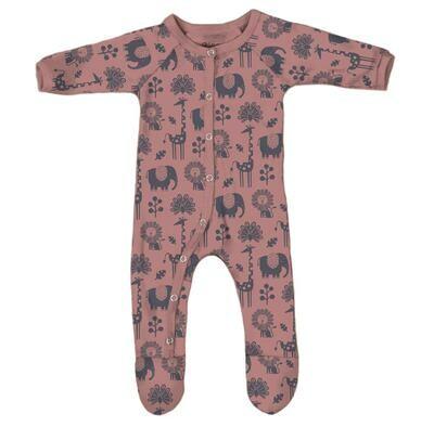 Piha Footed Pajama - Apricot