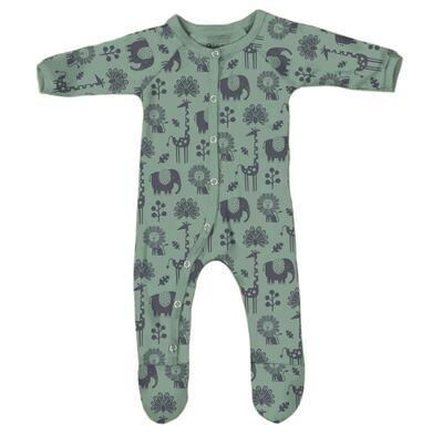 Piha Footed Pajama - Tea Green