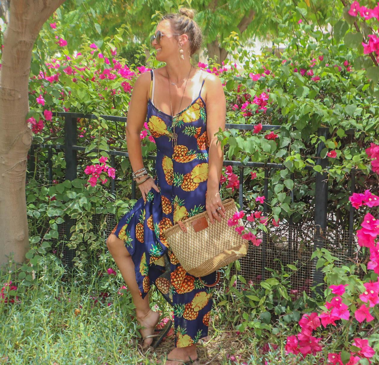 The Florida Girl - Blue Pineapple Print