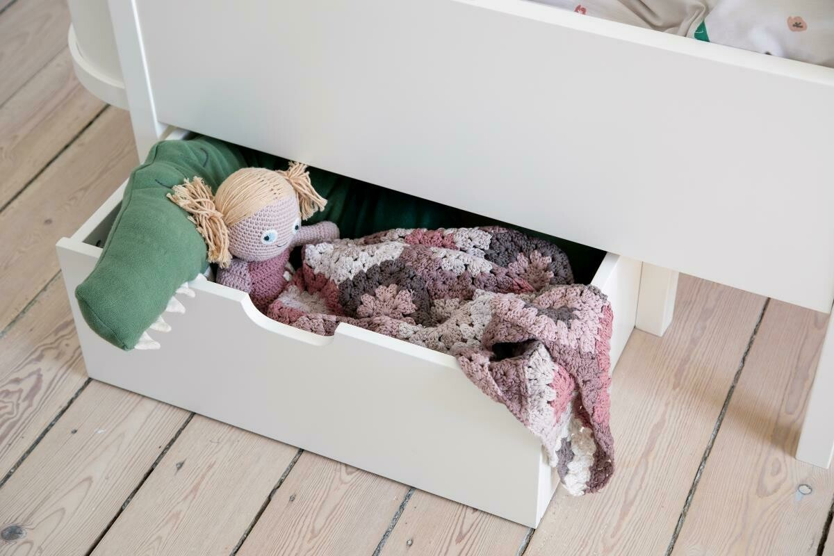 Baby & Jr. Extention Bed Drawer - White