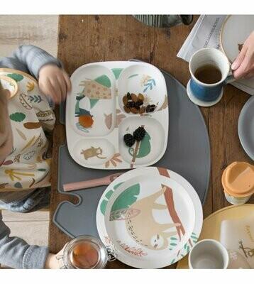Bamboo Melamine Dinner - 5 Piece Set in Wildlife Blue