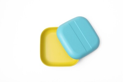 Go Duo Color Snack Box - Yellow & Blue