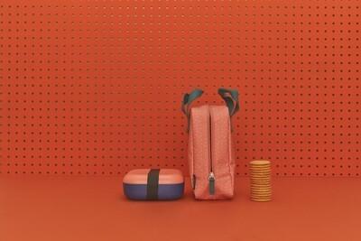 Go Duo Color Snack Box  - Purple & Peach