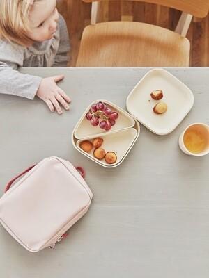 Go Square Bento Lunch Box - White + White Compartments