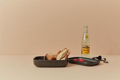 Go Rectangular Bento Lunch Box - Black