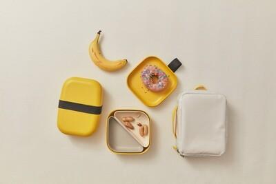 Go Rectangular Bento Lunch Box - Yellow