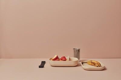Go Rectangular Bento Lunch Box - White