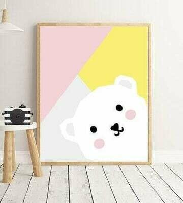 Abstract Bear Wall Art Print