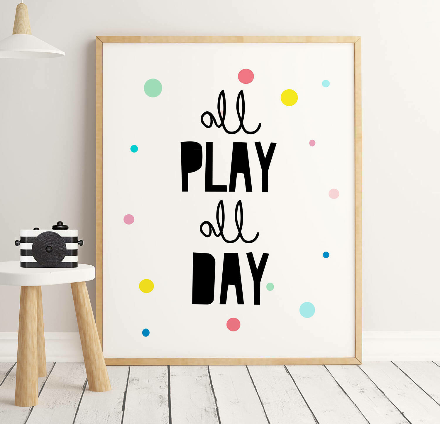 All Play All Day Wall Art Print